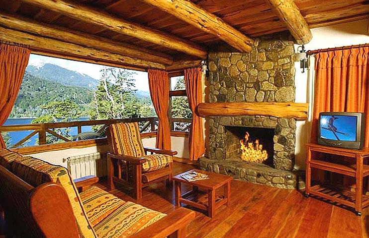 Caba as huitan c em villa la angostura cabanas em villa for Diseno de interiores de cabanas